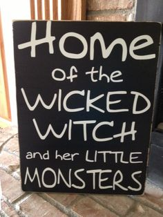 home of the wicked witch and her little by AmysVinylCreations, $30.00
