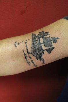 boat tattoo