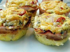 Two-Cheese, Ham & Egg Frittata Cups