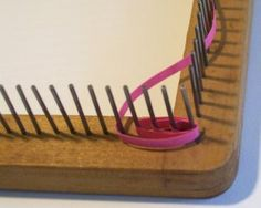 weaving hand loom uses as a quilling tool