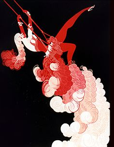 """The Trapeze"" by Erté"