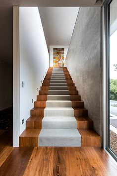 Eagle Bay Beach House by Zorzi South stair, eagl bay, beach houses