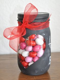 """Chalk Board """"Peek-a-boo"""" Jar - think of all the herbs and spices I could store!!"""