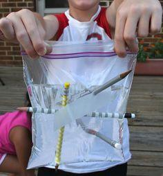 sunday school, bible object lessons, plastic bags, science sundays school lessons, school kids