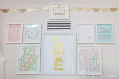 Gallery Wall: Pretty and pastel