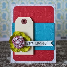 Happy Birthday to you! #GlueArts U Cut It Foam, #Core-dinations papers and made by @Ania Lexander