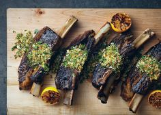 Slow-Cooked Short Ribs with Gremolata - Bon Appétit