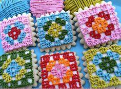 granny square cookies!