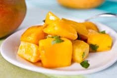 Warm Mango With Chili Agave