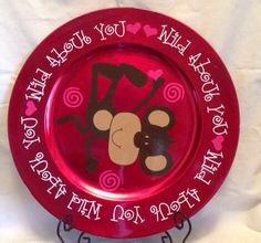 Wild About You Valentines Charger Plate by ScrapCrazyDesigns, $12.00