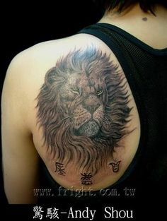 All tattoos by Andy Shou are masterpieces #lion #tattoo