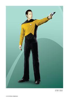 Star Trek: TNG Anniversary Art Prints: Data