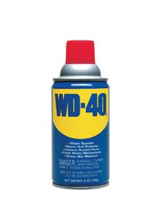 Remove crayon marks with WD-40