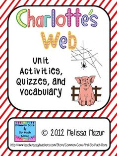 Just laughed at thought of the web way back in day!!Charlotte's Web unit activities