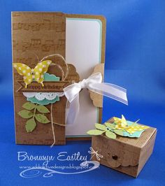 Scalloped Tag Topper Punch Card and Mini Box by BronJ - Cards and Paper Crafts at Splitcoaststampers