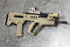 FDE Tavor with EOTech 553 Tan and Surefire M720V #guns #tactical #ar15 ar15, gun