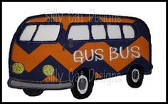 Gus Bus Applique Design on Etsy, $3.50