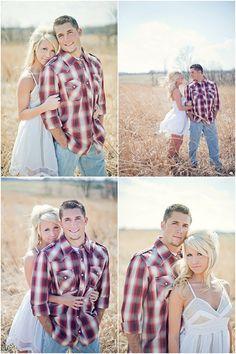 summer dresses, engagement pictures, engagement photos, engagement pics, couple pics, plaid shirts, engag photo, engag pictur, country couples