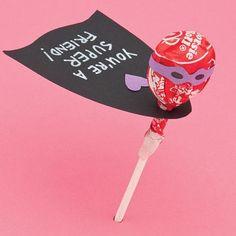 Super sucker Valentine! Cute I expansive idea for classroom valentines.