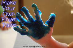 Homemade Finger Paint, #finger-paint