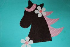 Horse applique to use instead of a poodle on a skirt for a sock hop