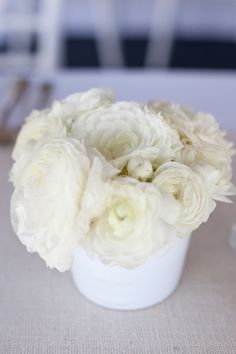 all white florals. LOVE  Photography by studio28photo.com, Event Design and Planning by lreventdesign.com