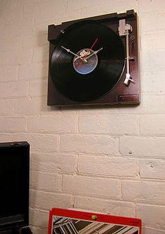 Retro Sony Record Player Clock