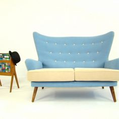 Vintage 1950's G Plan Wingback Sofa