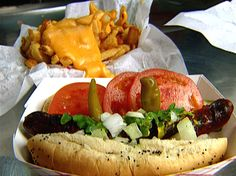 Wiener's Circle Chicago Style Hot Dog Recipe : Bobby Flay : Food Network - FoodNetwork.com