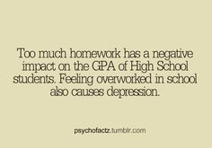 facts about no homework