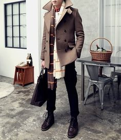 Fancy - Double Breasted Peacoat