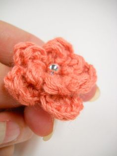 Small Boutonniere Flower Wedding Flowers Tiny Lapel by StitchKnit, $9.00