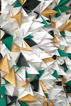geometric paper photo backdrop
