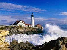 The Portland Head Light... one of my all time favorite light houses.  I was thrilled to see it in person!