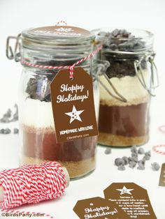 Hot Cocoa Mix Gift in a Jar with FREE Printable Gift Tags !