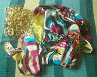 5-min. halter top from scarf