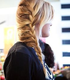 Messy side braid (no...