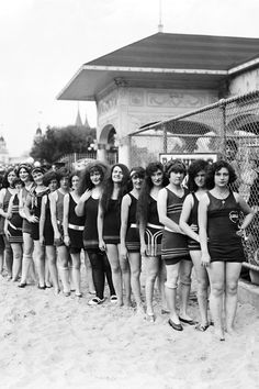 Swimsuits in 1913.