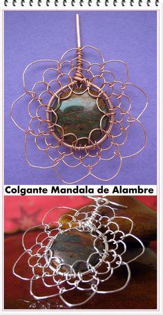 en-rHed-ando: Como hacer un Mandala con Alambre Tejido
