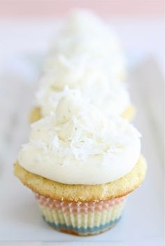Coconut Lime Cupcakes Recipe on twopeasandtheirpod.com Our favorite cupcakes!