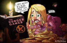 Disney's Rapunzel / Hunger Games lol