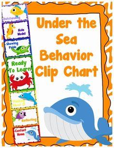 Under the Sea Behavior Clip Chart - Behavior Management, $