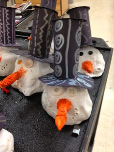 WHAT'S HAPPENING IN THE ART ROOM??: 2nd Grade Clay Snowmen