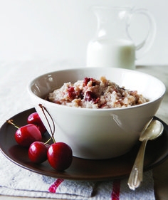 The addition of sweet-tart dried cherries transforms ordinary oatmeal into something to wake up for.  Repinned from @simpleskincare -- delish!  #KindtoSummerSkin