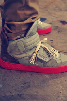 I must have these Louis Vuitton by Kanye West high tops! They range anywhere from $2,600-5,000 but it's totally worth it right?!
