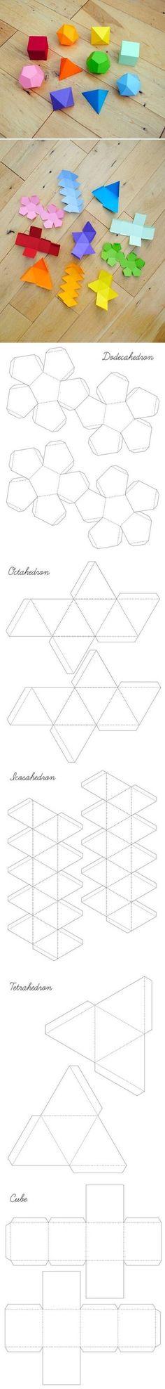DIY Plantillas Caja geométricas DIY Plantillas Caja geométricas