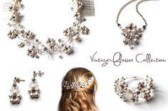 vintage flower collection, bohemian wedding, bridal jewellery