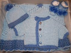 Baby Boy Layette Crochet Free | Crochet Baby Boy Layette Sweater Set and Blanket Perfect for Baby ...