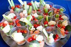 What a great idea for serving veggies at a party!