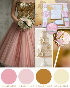 Pink and Gold Wedding . . . InspirationBoard - Brenda's Wedding Blog - unique wedding blogs for stylish weddings and inspiring visuals
